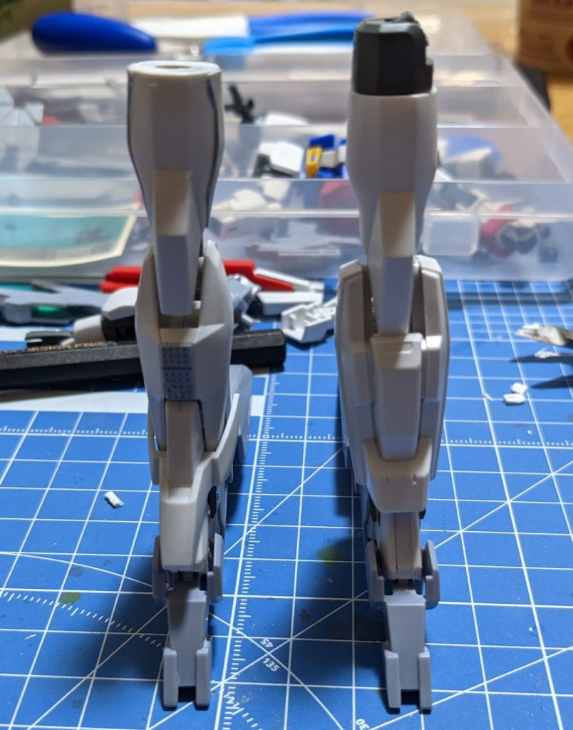 ダブルバレットの脚部との比較