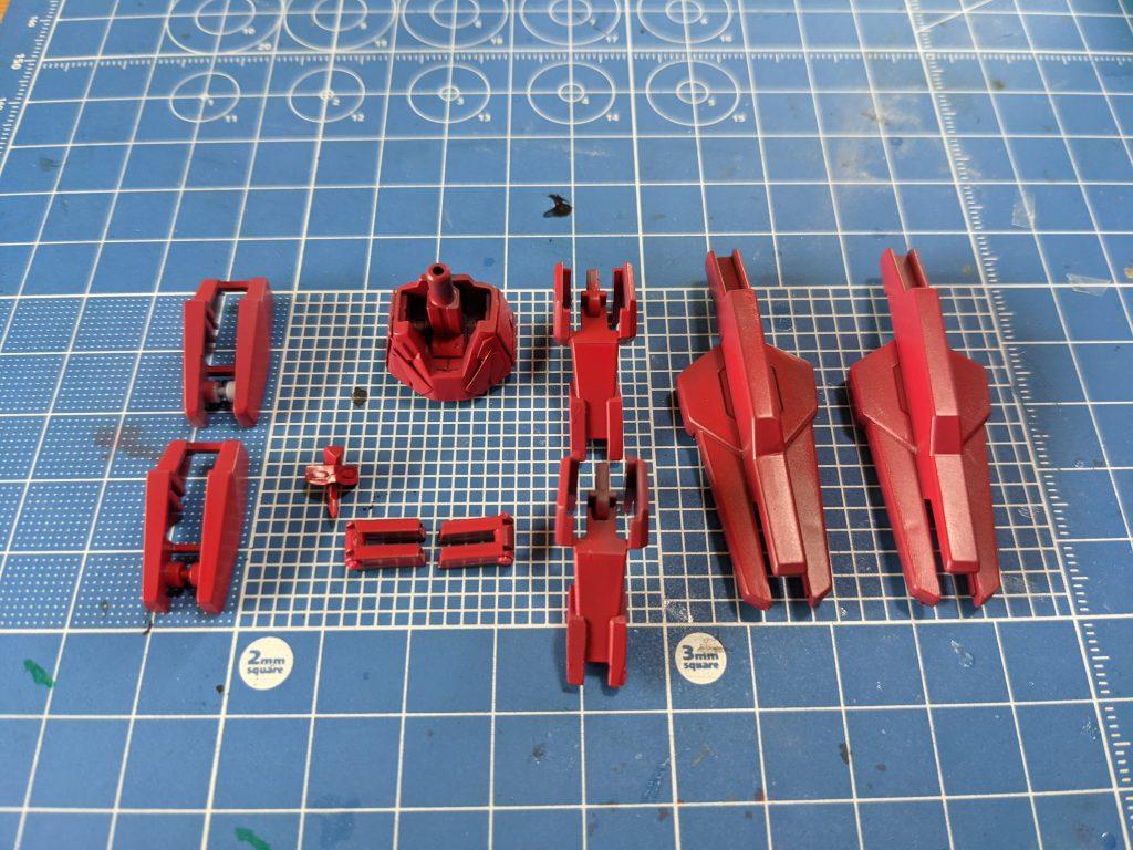 ガンダムAGE-2赤色塗料